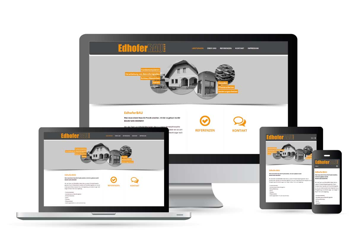 Webdesign Edhofer Bau